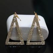 Bridalvenus Luxuriant Triangular Shaped Earrings with Rhinestones for Women and Girls