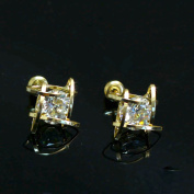 Bridalvenus Luxuriant Square Shaped Earrings with Rhinestones for Women and Girls
