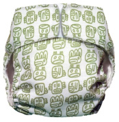 CuteyBaby All in One Modern Cloth Nappy, Green Tribal