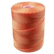 C-LON Bead Cord, Tangerine- .5mm, 92 Yard Spool