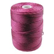 C-LON Bead Cord, Raspberry - .5mm, 92 Yard Spool