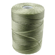 C-LON Bead Cord, Peridot Green - .5mm, 92 Yard Spool