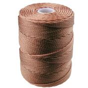 C-LON Bead Cord, Nutmeg - .5mm, 92 Yard Spool