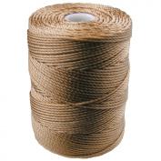 C-LON Bead Cord, Dark Tan - .5mm, 92 Yard Spool