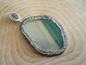 Foxy Findings Gemstone Collection Turkish Handmade Another Shade of Green Gemstone Pendant ZG011