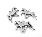 Set of Three (3) Silver Tone Pewter Tennessee Walking Horse Charms