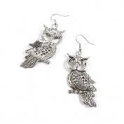 50 Pairs Earrings Antique Silver Tone Fashion Jewellery Making Charms Ear Stud Hooks Suppliers Wholesale YE513353 Hollow Owl