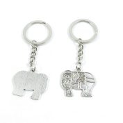 2 Pieces Keyring Keychain Keytag Key Ring Chain Tag Door Car Wholesale Jewellery Making Charms N0XK6 Thai Elephant