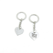 2 Pieces Keyring Keychain Keytag Key Ring Chain Tag Door Car Wholesale Jewellery Making Charms F1TB8 Mezzo Piano Heart Tag