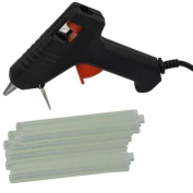 EopZol™ Hot Melt Glue Gun with 60 Mini Clear Glue Sticks for Arts Craft UL LISTED Black