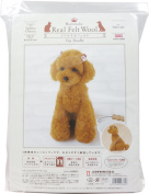 Hamanaka realistic wool felt lessons kit level 4 Toy Poodle H441-441
