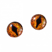 8mm Mythical Dragon Glass Eyes Iris Crafting Supply Flatback Cabochons for Art Doll Taxidermy Sculptures or Jewellery Making