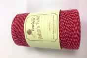 Baker's Twine 100m - Red/Pink Stripe 100% Cotton