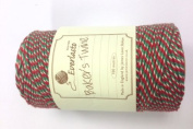 Baker's Twine 100m - Red/White/Green Stripe 100% Cotton