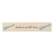 Berisfords 'Baked with Love' Ivory 15mm Ribbon on a 4m Reel (Natural Charms R...