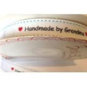 Bertie's Bows 'Handmade with Love by Grandma' White Grosgrain 16mm Labels on ...