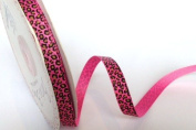 Bertie's Bows 9mm Hot Pink Leopard Print Ribbon on a 3m Roll