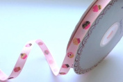 Bertie's Bows 9mm Pink Cupcake Ribbon on a 25m Roll
