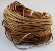WellieSTR 25 Yards Genuine Leather Light Brow Flat Cowhide Cord - Jewellery Making 3x1mm