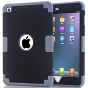 iPad Mini Cover Case,XRPow Mini 1/ 2/ 3 Case 3 in1[Colourful Series] Hybrid Armour Shockproof Case For iPad Mini 1/2/3