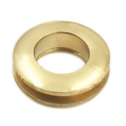 """Fujiyuan 10 Sets 13mm 0.51"""" Solid Brass Grommet Eyelets Buckle Clothes Scrapbook Stamping Leathercraft Backing Corns"""
