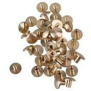 DIY Leather Craft Solid Brass Arc Head Nail Rivets Chicago Binder Screws Pack of 20