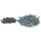 Blue Turquoise Rapid Rivet Studs for Leather Belt Bracelet Craft DIY Decorative Pack of 100