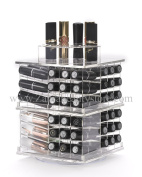 Zahra Beauty Spinning Lipstick Tower- Vitreous - The Best Lipstick Holder- Holds 81 Lipsticks