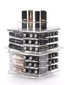 Zahra Beauty Spinning Lipstick Tower- Vitreous - The Best Lipstick Holder- Holds 81 Lipsticks