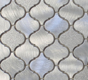 10cm x 15cm Samples - Cosmo Aluminium Metal Arabesque Mosaic Tiles