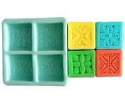 4 Cavity Plants Craft Art Silicone Soap mould Craft Moulds DIY Handmade soap moulds
