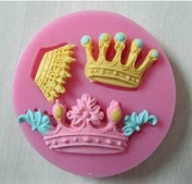 3 Cavity Mini Queen Crown Mould Silicone craft diy Chocolate Fondant Candy Making Moulds Cake decorating