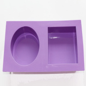 2 Cavity Oval Rectangle Silicone Soap Candle diy Moulds Soap Moulds craft handmade moulds