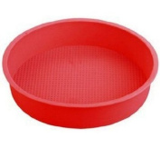 23cm Big Round Flexible Silicone Cake Baking Mould Cake Pans DIY Moulds Baking Tray