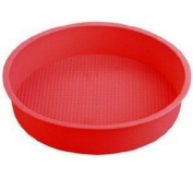 23cm Big Round Flexible Silicone Cake Baking Mould Cake Pans DIY Moulds Baking Tray