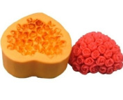 Rose Heart Shape Silicone Chocolate Mould Handmade Soap Moulds DIY