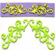 Silicone Embossing Mould Lace Fondant Mould Fondant Cake Decoration Mould Polymer Clay Resin Moulds
