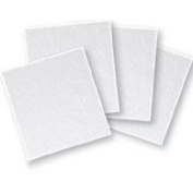 """4"""" Thin (2mm) Clear Fusible Glass Squares, 90 COE - 4 Pack"""