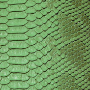 Green Faux Viper Sopythana Snake Skin Vinyl Fabric - Sold By The Yard - 130cm