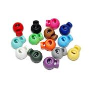 WINOMO Spring Loaded Plastic Round Toggle Stopper Cord Locks - 25pcs