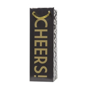 C.R. Gibson Wine Bag, Cheers Black & Gold