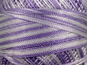 Variegated Purple - Yarn Art Tulip Size 10 Microfiber Thread - 50 Gramme