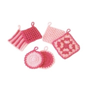 Hamanaka knitting kit for the first time of Crochet Ekotawashi pink H302-528-2