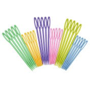 eBoot Colourful Plastic Knitting Needles, 30 Pieces