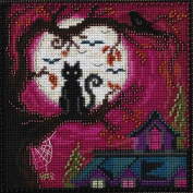 Moonstruck Beaded Counted Halloween Cross Stitch Kit Mill Hill MH141626 Buttons & Beads 2016 Autumn