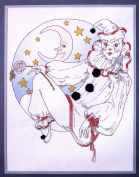 Something Special Counted Cross Stitch - MIME ON MOON - 36cm x 46cm 50528