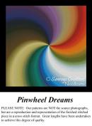 Pinwheel Dreams, Fractal Counted Cross Stitch Pattern