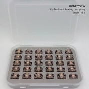 HONEYSEW 30PCS BOBBINS WITH BOX 0060265000QW - BERNINA bobbin 0060265000 180 185 190 200 435 450 640 730E 1000 1630