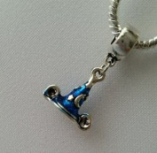 Dan Smatree The Beads 925 Silver Sparkling Blue Disney Mickey Mouse Sorcerer Hat European Bead Charm