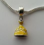 Dan Smatree The Beads 925 Sterling Silver Disney Belle Dress Dangle Bead Fits European Charm Bracelet